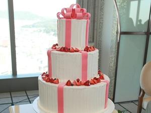 ピンクリボンケーキ